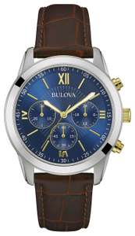 Bulova Men's Two Tone Brown Leather Strap Chronograph Watch 98A151 - £44.99 @ Argos