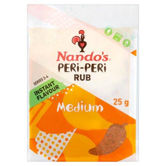 Nandos Peri-Peri Rub 25g 75p at Sainsburys