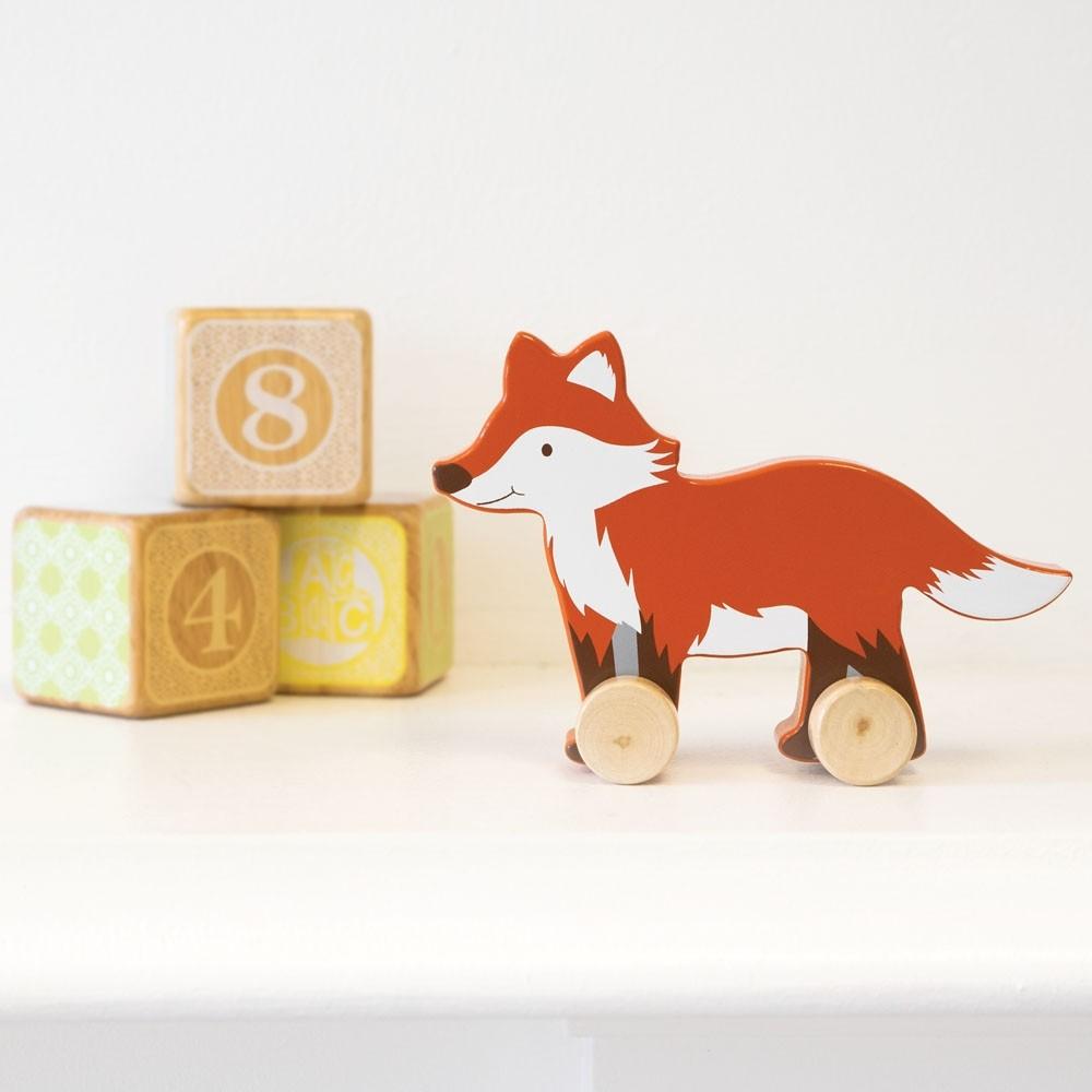Wooden Fox Push-Along Toy now £2 @ Jojo Maman Bebe Free C&C or £3.95 p&p