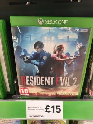 Resident Evil 2 Remake XBox One instore at Tesco for £15