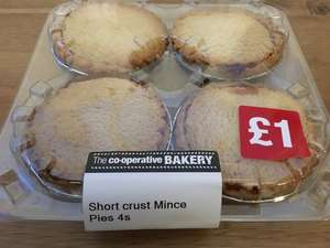 Co op Food Shortcrust Mince Pies instore for 12p
