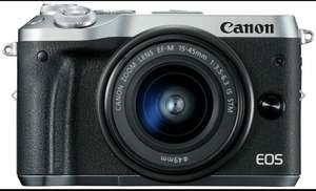 **UPDATED** Canon EOS M6 24.2MP 15-45mm Mirrorless WiFi PicBridge Camera - Silver £327.74 w/code was £344.99 @ Argos eBay