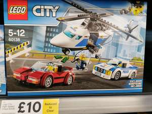 Lego City High-speed Chase set 60138 £10 in-store at Tesco