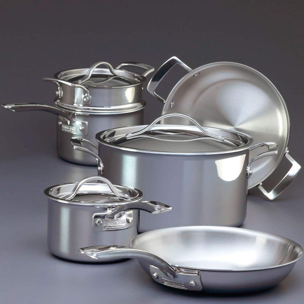 Kirkland Signature 13 piece stainless steel pan set £120 @ Costco (Leeds)