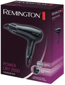 Remington D3010 Power Dry Lightweight Hair Dryer, 2000 W now £10 (Prime) + £4.49 (non Prime) at Amazon