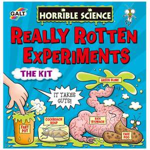 Galt Toys Horrible Science Really Rotten Experiments £5.40 (Prime) £9.89 (Non-Prime) @ Amazon