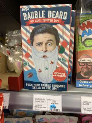 Bauble Beard Inflatable Throwing Game 50p instore @ Co-Operative York