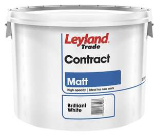 Leyland Trade Contract Matt Emulsion Paint 10L Brilliant White 2 for £25 @ Toolstation
