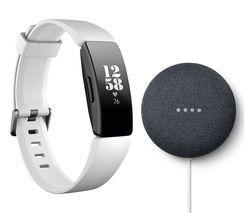 Fitbit Inspire HR Fitness Band + Google Nest Mini Bundle for £74.99 @ Currys PC World (Various Colours)