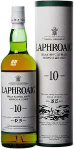 Laphroaig 10 Year Old Islay Single Malt Scotch Whisky for £28 and free delivery @ Amazon