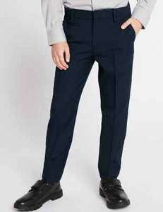 Boys Age 3-4 Yrs Navy Skinny Leg Slim Fit Trousers, £1.69 + Free Click & Collect @ M&S