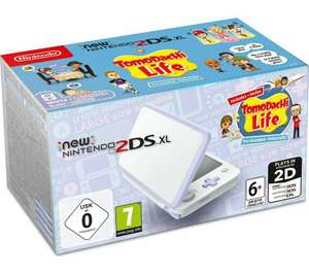 Brand New Nintendo 2DS XL White and Lavender Console + Tomodachi Life Pre-installed £89.99 @ ebay / barnardos_charity