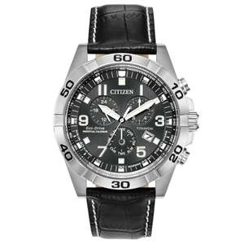 Mens Citizen Eco-drive Super Titanium Perpetual Calendar Alarm Chronograph Titanium Watch BL5551-14H - £149.25 @ Watch Shop