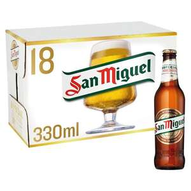 San Miguel 18 x 330ml £10 @ Morrisons