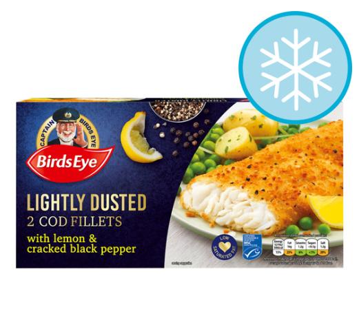 Birds Eye Lightly Dusted Lemon & Pepper Cod Fillets 280G £2.90 @ tesco