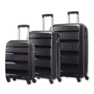 American Tourister Bon Air 3 Piece Hardside Suitcase Set, Black / Blue - £109.99 delivered @ Costco
