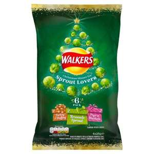 Walkers Sprout Lovers Potato Chips 6 pack - £0.75 in-store @ B&M Bury