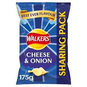 Walkers Cheese & Onion Sharing Bag Crisps 175G - 90p Tesco