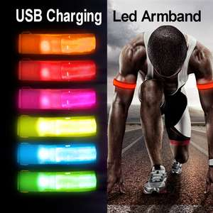 LED safety light reflective armband with USB charging for £2.88 delivered @ AliExpress / Airsson Official Store