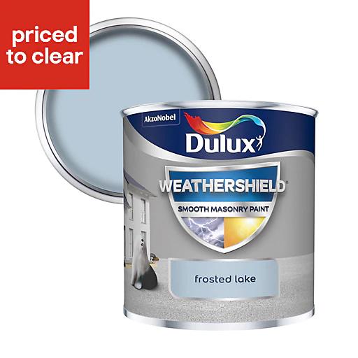 Dulux Weathershield Frosted lake Smooth Matt Masonry paint 0.25L Tester pot £1 at B&Q