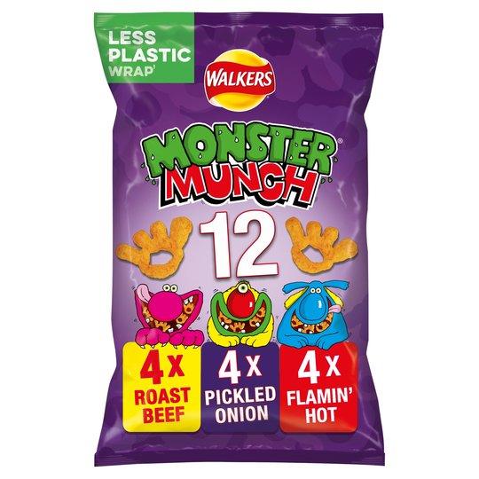 Walkers Monster Munch Variety Snacks 12X25g - £1 @ Heron Foods