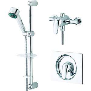 Wickes Rhine Thermostatic Mixer Shower & Adjustable Riser Kit now £50 @ Wickes