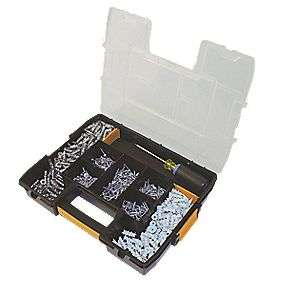 Dewalt 300 Piece Plasterboard Anchor Kit Organiser Box, Now £30.99 + Free Click & Collect @ Screwfix