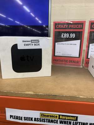 Apple TV 4th Gen 32gb £89.99 @ Clearanace Bargains Argos Walsall instore only