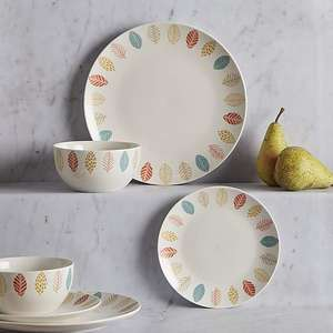 Cosy Skandi 12 Piece Dinner Set £13 + Free C&C @ Dunelm Mill or £16.95 delivered
