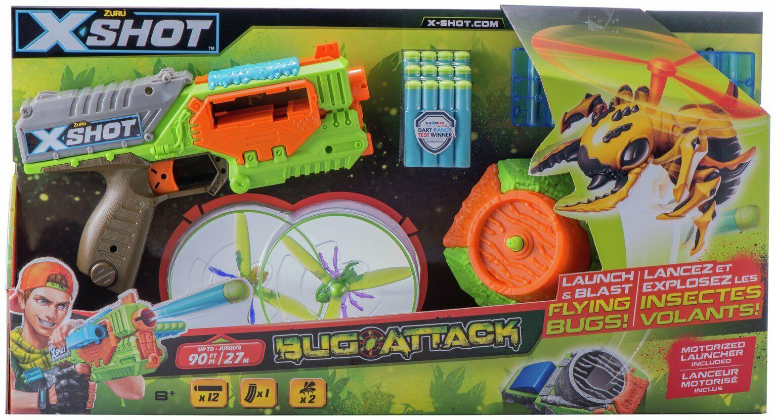X-SHOT Bug Attack Swarm Seeker 10 Dart Capacity Indoor/Outdoor 8+ Years £5.99 @ Argos / Ebay