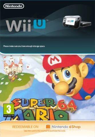 Super Mario 64 Digital Download Code for Wii U £6.85 (instant delivery) @ ShopTo