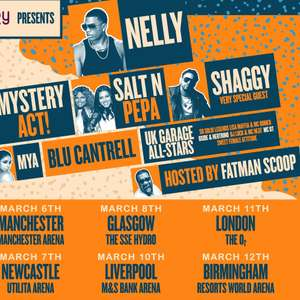 The Blast Off Tour with Shaggy, Salt N Pepa, Nelly & more - March dates with 9 locations - Tickets from £20.53 with code @ Groupon
