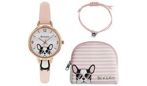Tikkers Pink Dial Watch, Purse, Charm Bracelet Set, Now £9.99 & 2 Yr Guarantee + Free Click & Collect @ Argos
