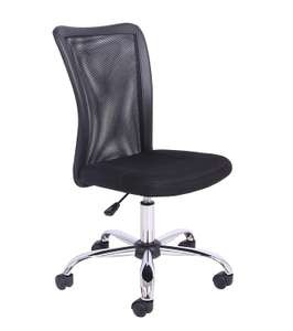 Office Essentials Mesh Gas Lift Adjustable Chair - Black £32 at Amazon