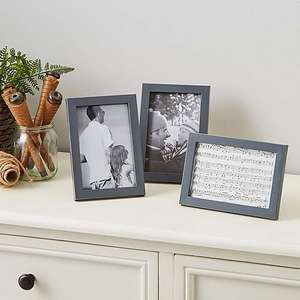 """Set of 3 Frames Charcoal 6""""x 4"""" (15x10cm) now £1.40 free click and collect at Dunelm"""
