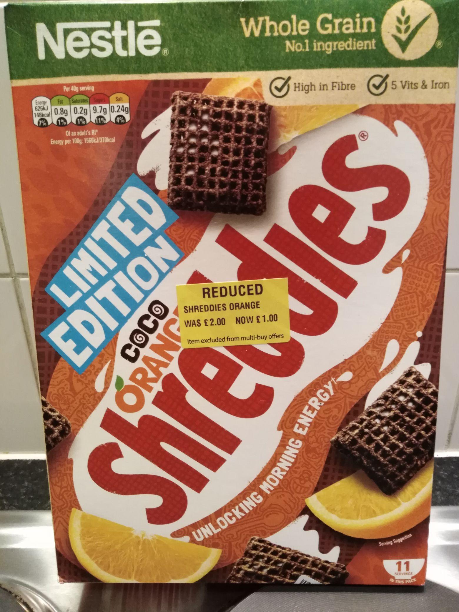 Coco Orange Shreddies 460g £1 @ Morrisons Mitcham