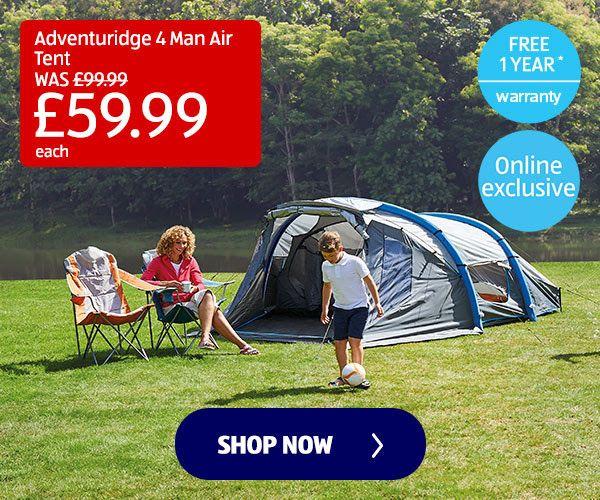 4 person Air tent, Aldi Winter SALE, £59.99(Was £99.99), Free delivery