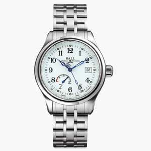 Ball Watch Company Trainmaster Power Reserve white watch - £1175 delivered @ Secret Sales