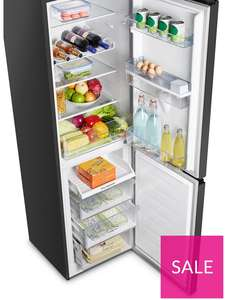 Hisense PF9VL15 55cm Total No Frost combi Fridge Freezer - Black £299 / £249 with code at Very - £6.99 delivery