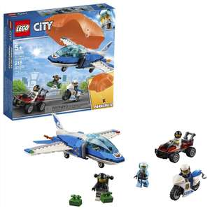Lego City 60208 Sky Police Parachute Arrest with 3 Vehicles £10 (Prime) / £14.49 (non Prime) at Amazon