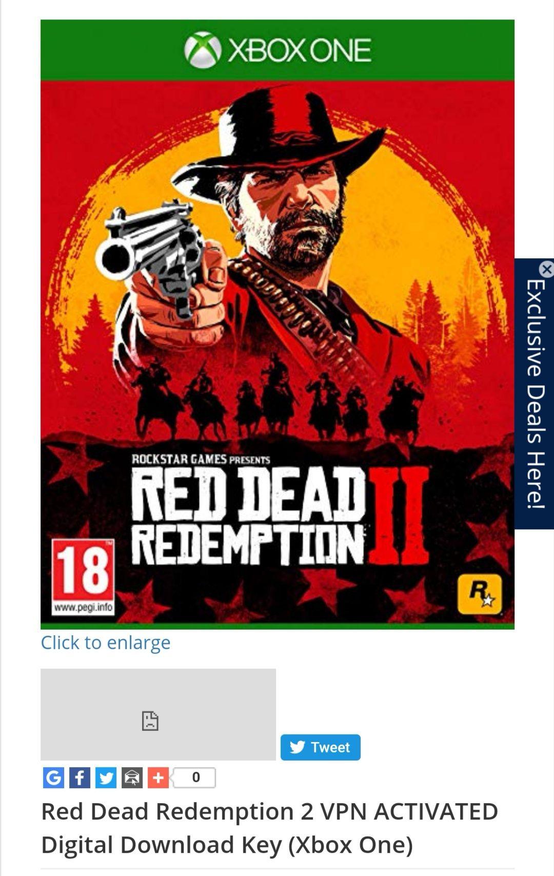 Red Dead Redemption 2 Xbox VPN Turkey £20.99 cjs-cdkeys
