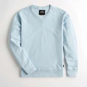 Men's Hollister Crewneck Sweatshirt (3 styles) now £8.70 + £5 delivery / free on £50 spend @ Hollister (more in post)