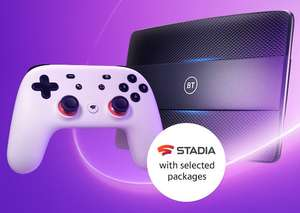 Free Stadia Premiere Edition with selected BT Fibre Broadband packages - from £39.99 month
