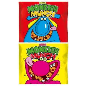Monster Munch Flamin' Hot & Roast Beef 40g bags - 6 for £1 or 19p each (mix and match) in-store @ Heron Foods Bury