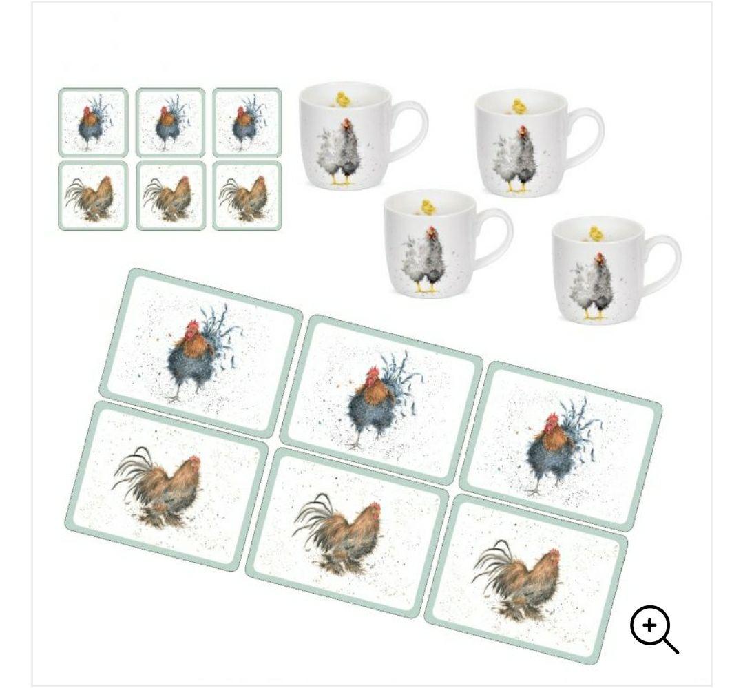 Royal Worcester Wrendale Cockerels and Hens Bundle - £20.29 delivered @ Portmeirion Group