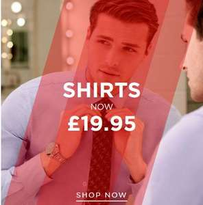 T.M.Lewin Shirt Sale with Free Delivery £19.95 each - £17.50 each when you buy any 4 or more + 10% off with code