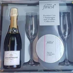 Tesco's Finest Champagne Gift set reduced to clear - £3.50 at Tesco (Forge Retail Park, Glasgow)