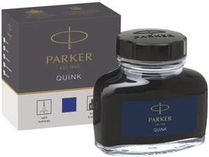 Parker Fountain Pen Liquid Bottled Quink Ink, 57 ml, in a Box - Blue £3.94 (Prime) / £8.43 (non Prime) at Amazon