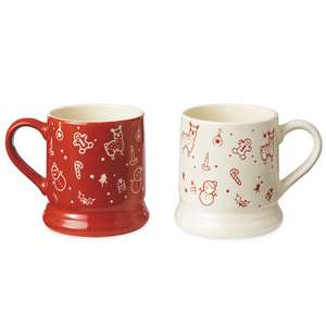Set of two Christmas Gift mugs boxed set reduced to £0.29 instore at Aldi