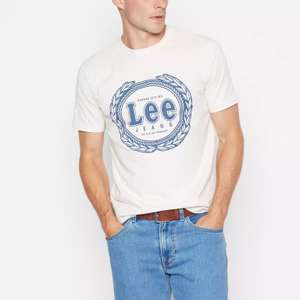 Lee - White 'Lee' Cotton T-Shirt £7.50 at Debenhams (free delivery with code)